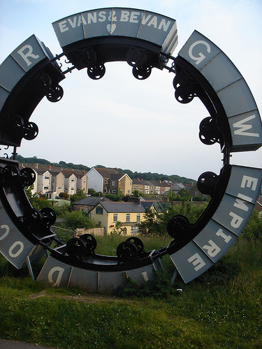 Hengoed viaduct wheel